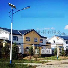 高碑店美丽乡村太阳能路灯,5米6米灯杆厂安装