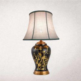 中山厂家定制全铜陶瓷台灯客房酒店床头台灯