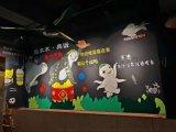 南京餐厅餐馆墙绘j 手绘壁画i 中式装修