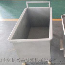 果蔬加工厂用不锈钢桶车 物料周转车