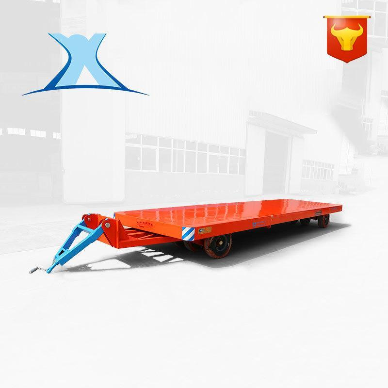 车间物料运输胶轮拖车 低平板拖车原装现货