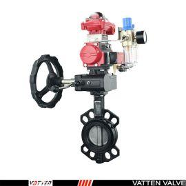 德国VATTEND671X-10\16 气动双作用衬胶蝶阀,工业应用阀门上海厂家