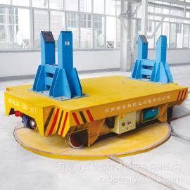 百特智慧55噸噴漆房電動轉盤90度轉向導軌小車與電動轉盤工廠實例