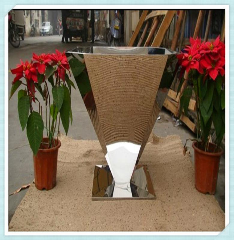 花盆加工定制商场不锈钢花盆组合落地花盆不锈钢定制