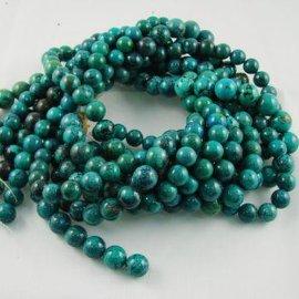 天然绿松石C级圆珠