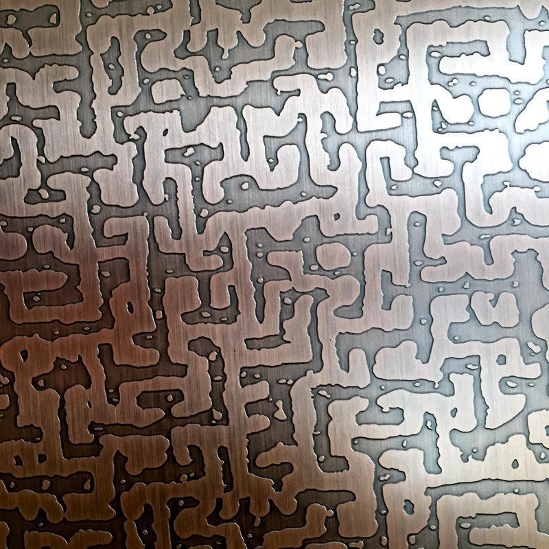 不锈钢蚀刻不锈钢表面处理加工不锈钢管表面蚀刻加工