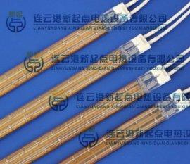 新起点定制各种规格的双孔石英孪管,半镀金石英双孔管,
