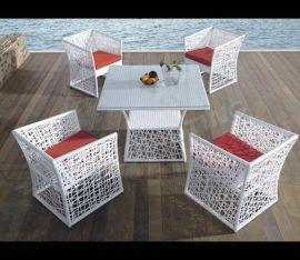 实力厂家批发 藤椅 户外家具 花园休闲阳台桌椅五件套 仿藤餐桌椅
