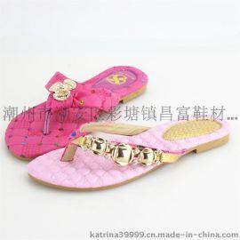 新款女式拖鞋pu人字拖鞋
