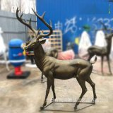 玻璃鋼雄鹿雕塑 玻璃鋼羣鹿組合雕塑 玻璃鋼園林裝飾雕塑擺件定製