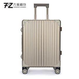 上海箱包厂拉杆箱包旅行箱万向轮镁铝合金拉杆箱礼品定制LOGO