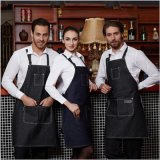 优质牛仔围裙超大口袋单独笔袋可广告印LOGO西餐店咖啡厅工作围裙