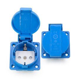 德式防水接线插座 欧规德规电箱机柜工业防水插座