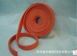 长期供应防火发泡硅胶海绵条,发泡硅胶自粘密封条,红色硅胶发泡条