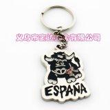 廠家供應西班牙畫油鑰匙扣 旅遊品小掛件 可定製