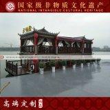 江苏楚歌木船厂家直销14米大型双层画舫船 优质电动观光餐饮船 旅游景区观光船