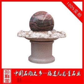 晚霞红喷水球 大理石风水球 尺寸可加工 惠安石雕
