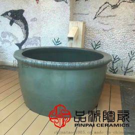 供应地下排水独立泡澡缸 净身沐浴陶瓷水缸出厂价格