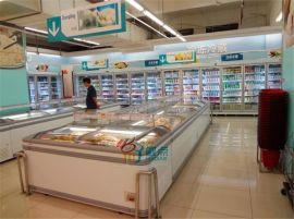 厂家直销 超市节能组合岛柜,新款大型展示柜