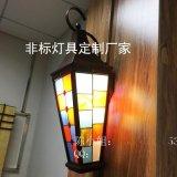 森隆堡灯饰现货供应法式奢华壁灯仿云石壁灯门口壁挂壁灯亚克力灯罩格子壁灯