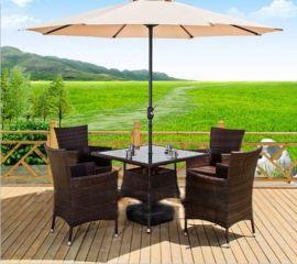 佛山小区藤质桌椅 庭院藤制桌椅 PE藤椅