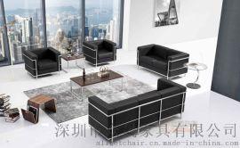 办公沙发LC2   真皮沙发定制 办公室接待沙发批发厂家