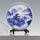 景德鎮陶瓷大坐盤 二米青花純白色紀念盤 客廳牆面裝飾大賞盤