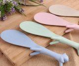 小麦秸秆树叶饭勺 环保可降解饭勺 绿色环保盛饭勺子专用降解材料