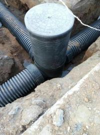 PE塑料 检查井 厂家直销 农村生活污水排污井 流槽90度井 雨水井