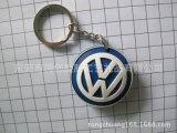 大衆車標硅膠滴膠鑰匙扣禮品,4S店汽車鑰匙扣禮品