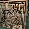 红古铜铝板雕刻屏风 镂空雕刻大型铝制屏风 高档大气