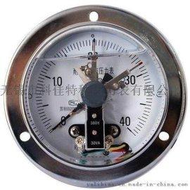 轴向带边耐震电接点压力表,嵌装耐震电接点压力表