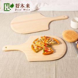 实木质披萨铲披萨板盘底托木托盘12寸比萨出炉器pizza peel木铲