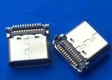 TYPE-C厂家 板上SMT16P母座4脚插板