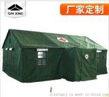 草綠色三層帳95衛生棉單帳篷 戶外救災帳篷 班用摺疊保暖帳篷