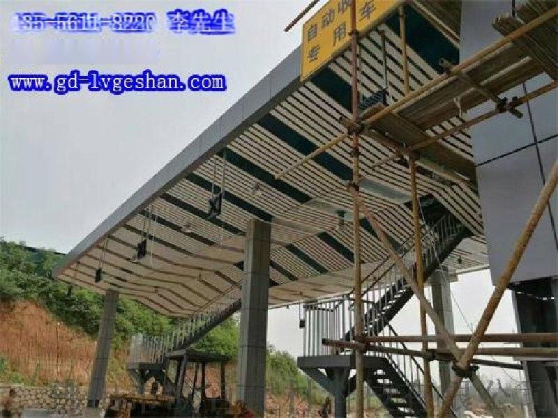 兰州铝合金方管 铝圆通吊顶 铝型材长城板 室内外墙身铝板定做