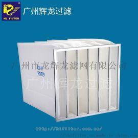 辉龙HL filter,CD袋式初效空气过滤器,效率G3/G4,铝合金或镀锌外框,合成纤维,70°C,阻力值250Pa