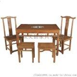 餐厅家具定制火锅餐桌椅实木火锅桌工厂人造石餐台