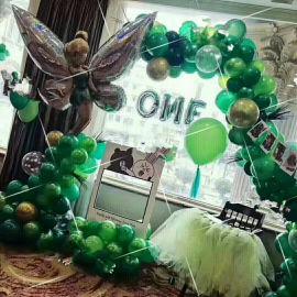 昆明花語花香氣球寶寶宴氣球生日宴氣球商場布置