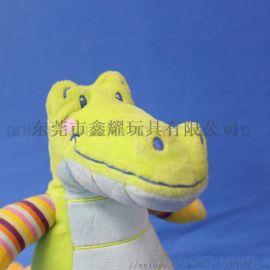 來圖來樣定做卡通可愛鱷魚 毛絨玩偶 填充布絨玩具