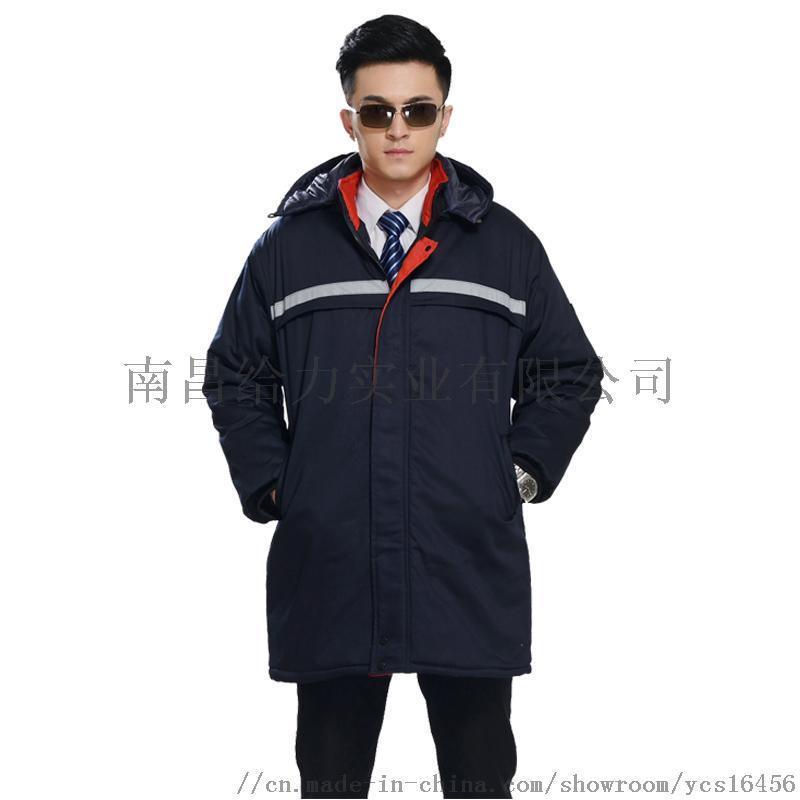 江西秋冬夹棉加厚夹克衫工装制服大衣订做加工