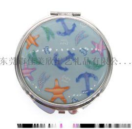 超薄随身化妆镜便携折叠镜金属小镜子礼品赠品工厂定制