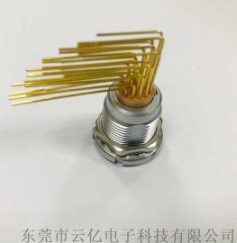 ZCG26芯双螺母固定 PCB板接90°弯针插座