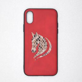 厂家定制立体拼接贴皮手机壳适用于iPhoneX