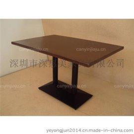 甜品店个性餐桌欧式创意休闲餐桌奶茶店复古实木家具餐桌椅组合 铁艺餐桌咖啡厅餐桌