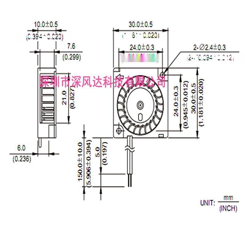 深風達30MM微型散熱風扇,5V3010鼓風機