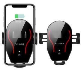 红外自动感应车载手机快充支架 Qi无线充支架