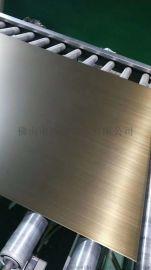 304不锈钢手工拉丝仿古铜板,不锈钢青古铜拉丝板