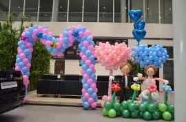 昆明花語花香氣球慶典商場布置氣球展會布置年會裝飾