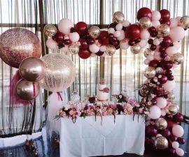 昆明花語花香生日派對氣球布置壽宴氣球裝飾寶寶宴氣球